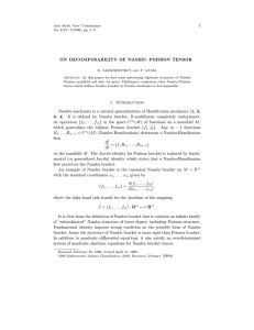 1 ON DECOMPOSABILITY OF NAMBU–POISSON TENSOR