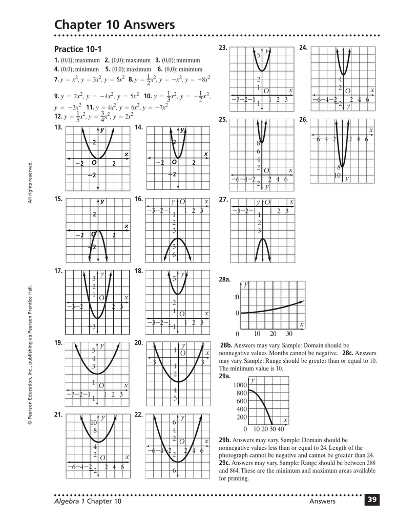 Chapter 10 Answers Practice 10-1 23  24
