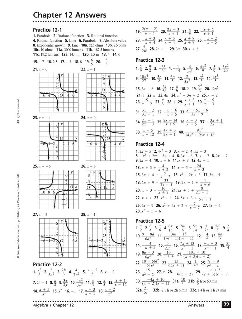 prentice hall foundations algebra 1 practice