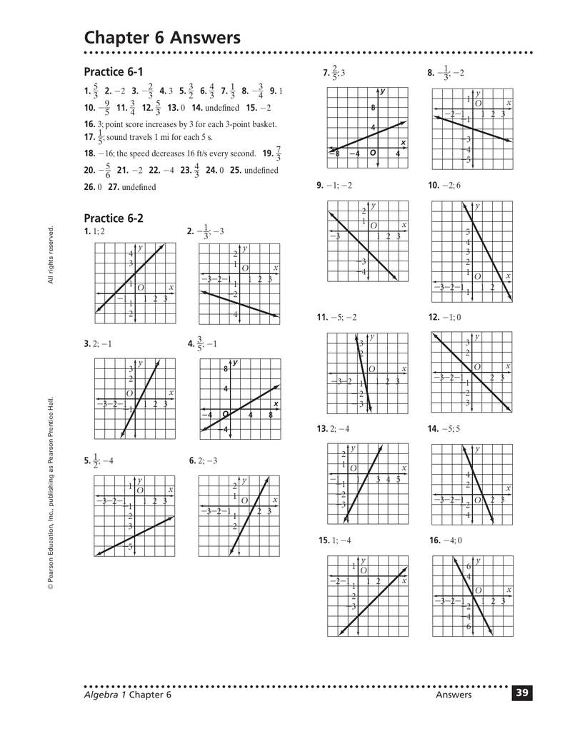 lesson 18-1 problem solving slopes of parallel and perpendicular lines