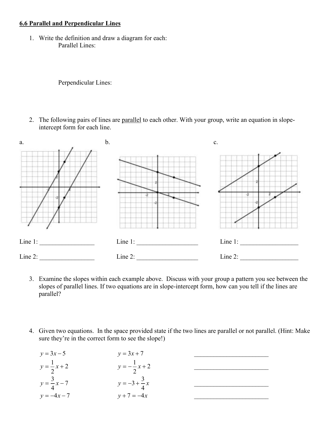 66 Parallel And Perpendicular Lines Parallel Lines