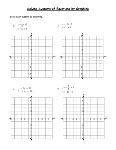 Solving Systems of Equations by Graphing  Solve each system by graphing. 1