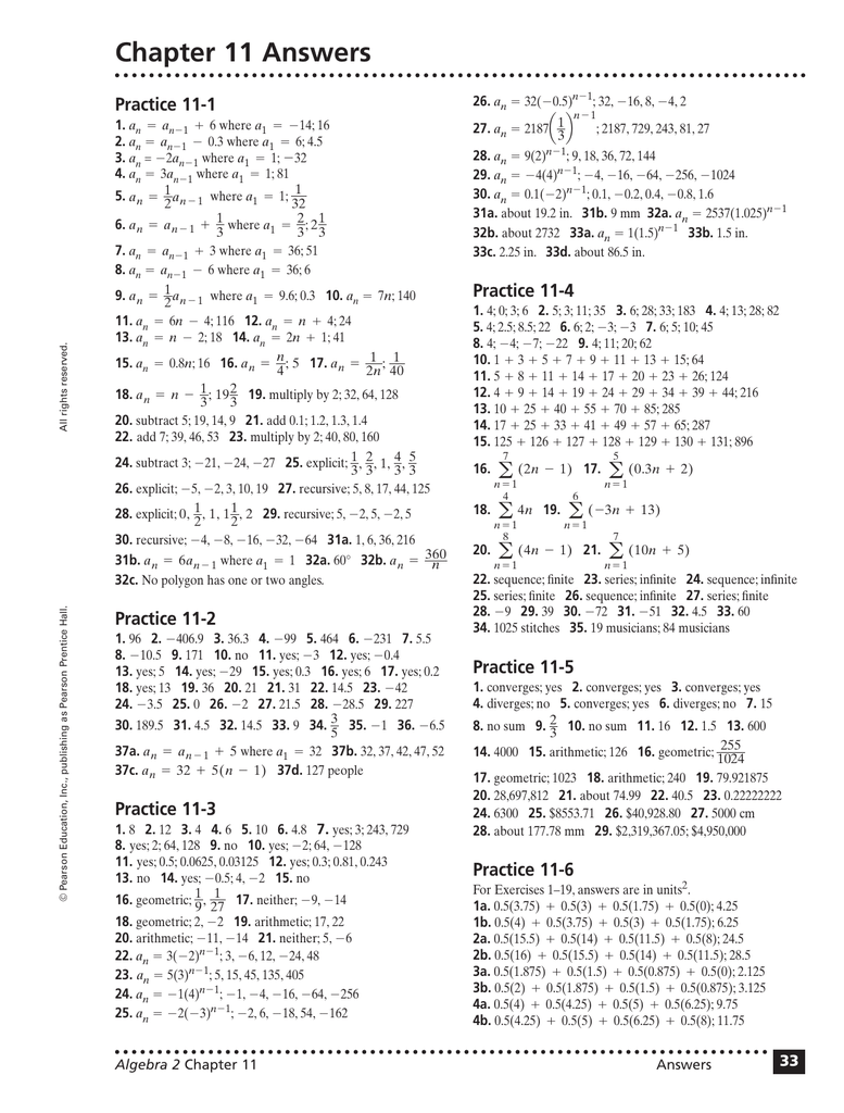 Bestseller: Algebra 2 Workbook Answers Pearson