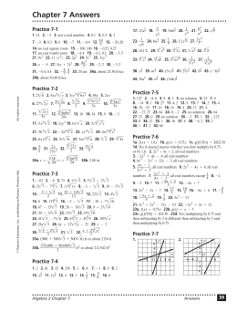 Chapter 11 Answers Practice 11 1