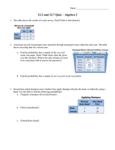 12.2 and 12.7 Quiz – Algebra 2