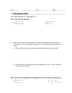 Checkpoint Quiz  Use with Lessons 3-1 through 3-3.
