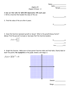 Algebra II Chapter 8 Exam – A