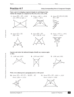 Congruent Triangles and Similar Polygons Warm-Ups or Worksheet by ...