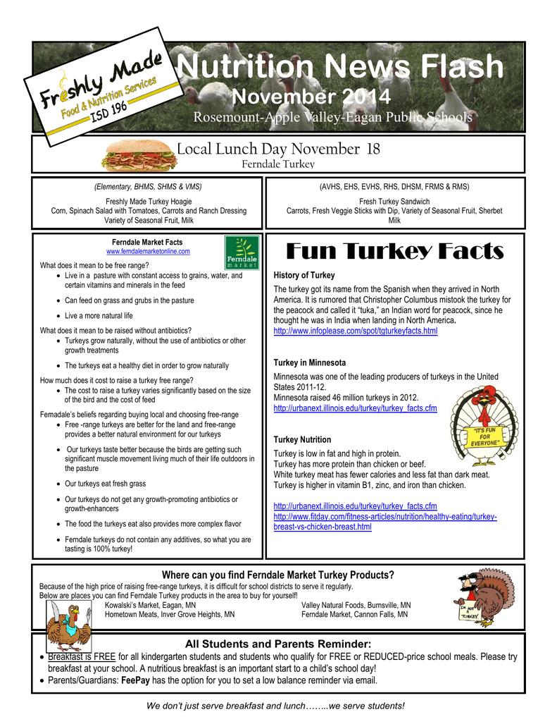 Nutrition News Flash November 2014