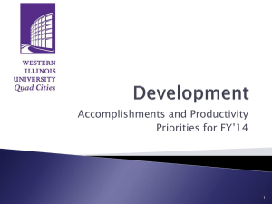 Accomplishments and Productivity Priorities for FY'14 1