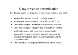 X-ray structure determination
