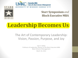 Leadership Becomes Us The Art of Contemporary Leadership: