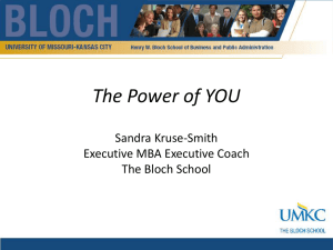 The Power of YOU  Sandra Kruse-Smith Executive MBA Executive Coach