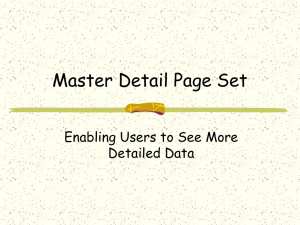 Master Detail Page Set Enabling Users to See More Detailed Data