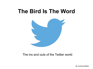 The Bird Is The Word By: Andrea DeMaio