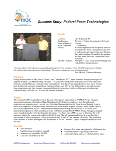 Success Story: Federal Foam Technologies  Profile