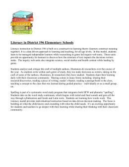 Literacy in District 196 Elementary Schools
