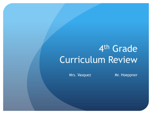 4 Grade Curriculum Review th