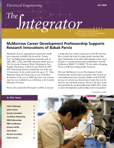 ntegrator The Electrical Engineering McMorrow Career Development Professorship Supports