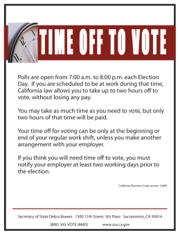 TIME OFF TO VOTE
