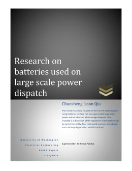 Research on batteries used on large scale power dispatch