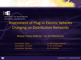 Assessment of Plug-in Electric Vehicles Charging on Distribution Networks