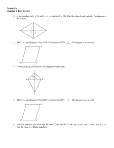 Geometry Chapter 6 Test Review