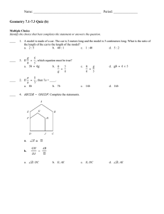Geometry 7.1-7.3 Quiz (b) Name: __________________________________________   Period: _______________