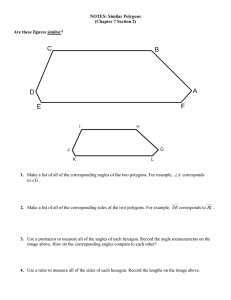 NOTES: Similar Polygons (Chapter 7 Section 2)  Are these figures similar?