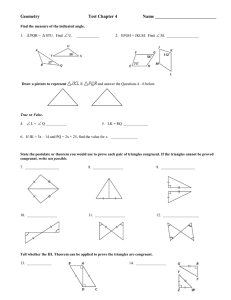   Geometry Test Chapter 4