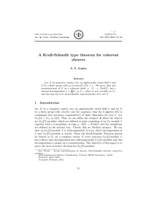 A Krull-Schmdit type theorem for coherent sheaves A. S. Arg´ aez