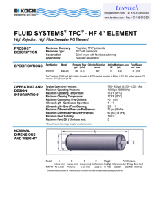 "FLUID SYSTEMS TFC - HF 4"" ELEMENT"