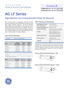 AG LF Series High Rejection Low Fouling Brackish Water RO Elements