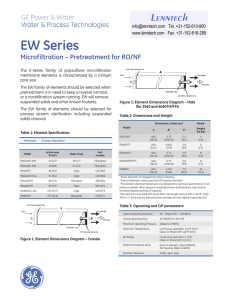 EW Series Microfiltration – Pretreatment for RO/NF