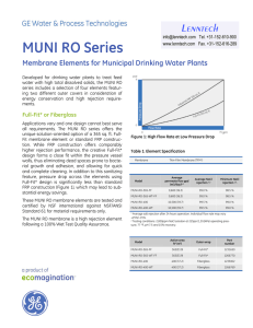 MUNI RO Series Lenntech Membrane Elements for Municipal Drinking Water Plants