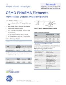 OSMO PHARMA Elements Pharmaceutical Grade Net Wrapped RO Elements