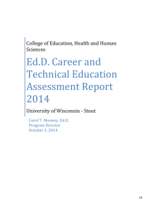 Ed.D. Career and Technical Education Assessment Report 2014