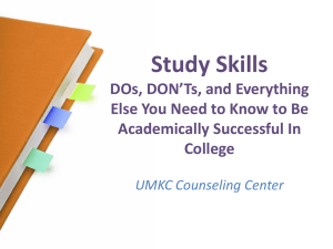 Study Skills DOs, DON'Ts, and Everything Academically Successful In