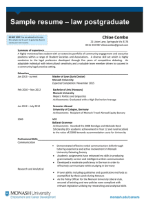 – law postgraduate Sample resume Chloe Combo