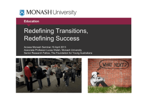 Redefining Transitions, Redefining Success Education