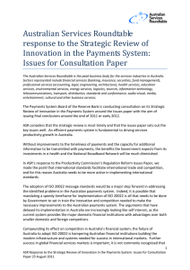Australian Services Roundtable response to the Strategic Review of