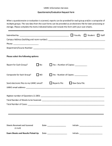 UMKC Information Services Questionnaire/Evaluation Request Form