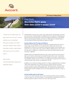 Manitoba Hydro gives their data centre a power boost Case Study