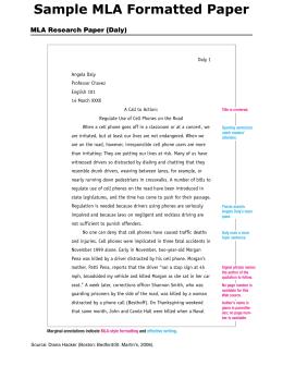 research paper in mla