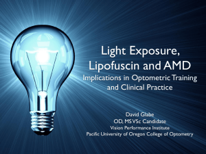Light Exposure, Lipofuscin and AMD Implications in Optometric Training and Clinical Practice