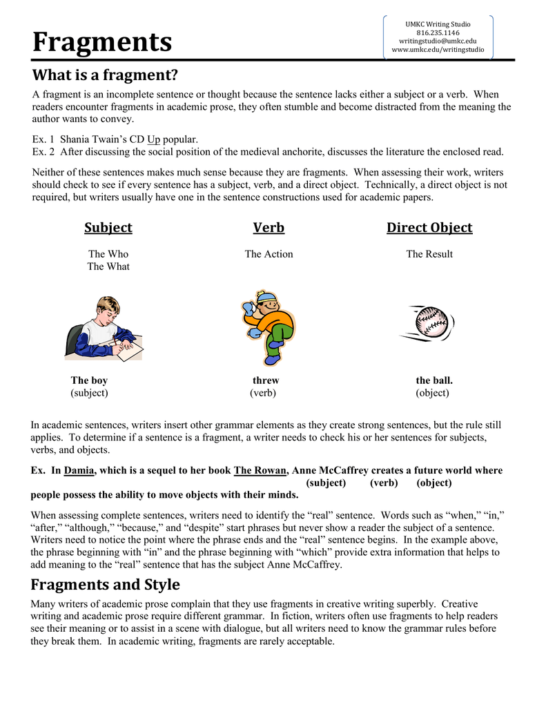 Fragments and run on sentences worksheets
