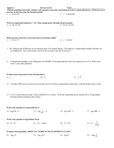 Algebra 2  Review 8.1-8.3 Name __________________________________
