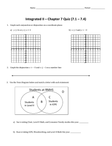 Integrated II – Chapter 7 Quiz (7.1 – 7.4)