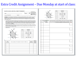 Extra Credit Assignment – Due Monday at start of class: