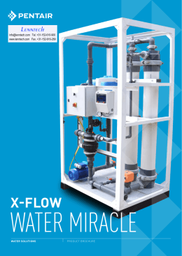 water miracle X-Flow Lenntech Tel. +31-152-610-900